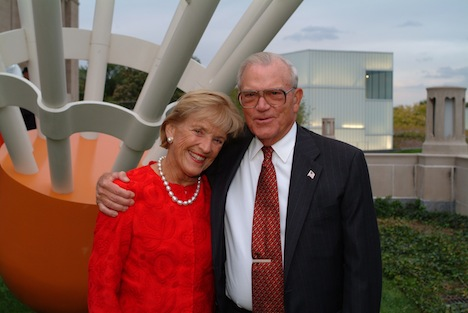 Adele and Don Hall outside museum Photo by Mark McDonald