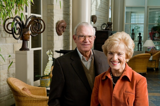 Don and Adele Hall in their home Photo by Mark McDonald