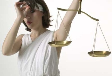 lady justice not blind