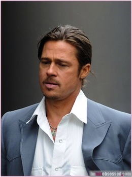 Brad Pitt Films 'The Counselor' In London