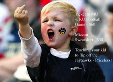 Priceless - Young Tiger Fan Flips Off KU Jayhawks