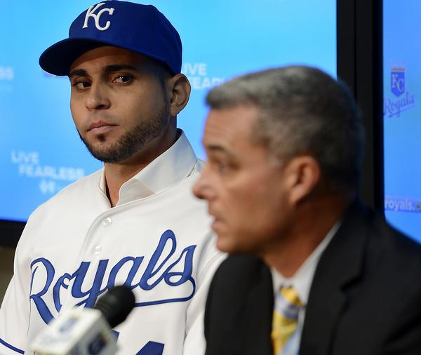 Clearly, Omar Infante is thrilled to be a Royal