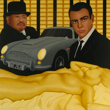 Goldfinger by artist Kim Kerns