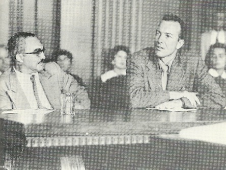 Pete Seeger at the House Un-American Activites committee in 1952
