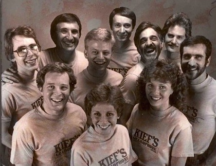 Kief's staff early 1980s The way they were