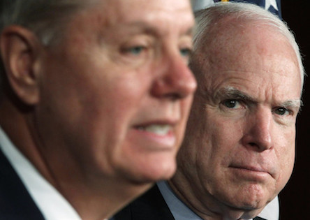 Sen. John McCain Holds News Conference On Syria