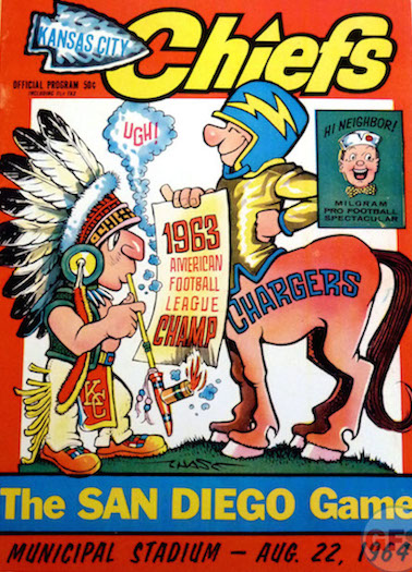 AFL-preseason-game-program_1964-San-Diego-Chargers_Kansas-City-Chiefs