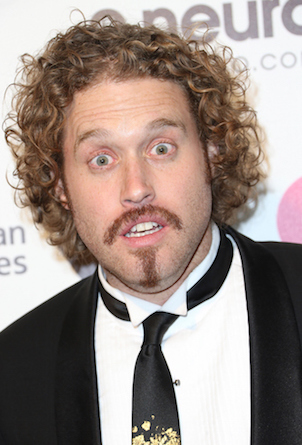 WEST HOLLYWOOD, CA - FEBRUARY 22:  Actor T.J. Miller attends the 23rd Annual Elton John AIDS Foundation's Oscar Viewing Party on February 22, 2015 in West Hollywood, California.  (Photo by Frederick M. Brown/Getty Images)