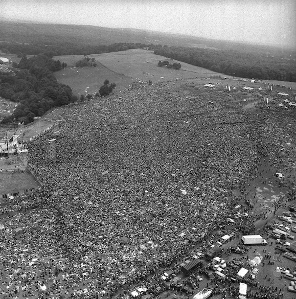 Funny, this Woodstock crowd of 500,000 doesn't look that much smaller than the Royals rally