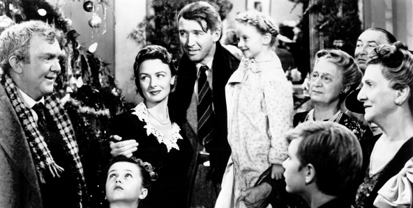 It's a Wonderful Life (1946) Directed by Frank Capra Shown: (top l to r): Thomas Mitchell, Donna Reed, James Stewart, Karolyn Grimes (ZuZu), Sarah Edwards (Mrs. Hatch), Beulah Bondi - (bottom l to r) Carol Coombs (Janie), Jimmy Hawkins (Tommy), Larry Simms (Peter)